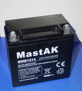 Аккумулятор МastAK MMB1214 12v 14Ah