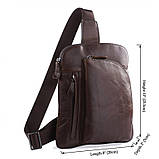 Кожаная сумка через плече Navara 7194C, фото 3