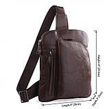Шкіряна сумка через плече Navara 7194C, фото 3