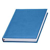 Ежедневник 'Принт' голубого цвета под нанесение логотипов тиснением, фото 1