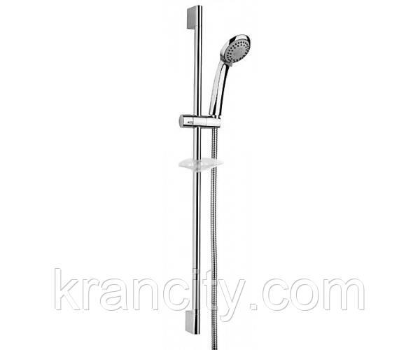 Душевой гарнитур с ручной лейкой Ferro Soleno N300A,(штанга,мыльница,лейка,шланг)