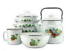 Набір емальованого посуду 6 предметів ЕМАЛЬ Лісова ягода (513031)