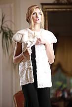 Жилет з тибетського ягняти і норки кольору перли swakara broadtail vest gilet