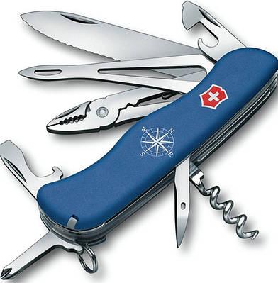 Швейцарский складной удобный нож Victorinox Skipper 09093.2W синий