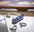 Швейцарский складной удобный нож Victorinox Skipper 09093.2W синий, фото 2