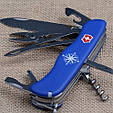 Швейцарский складной удобный нож Victorinox Skipper 09093.2W синий, фото 3