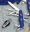 Швейцарский складной удобный нож Victorinox Skipper 09093.2W синий, фото 4