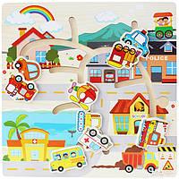 Деревянная игрушка Бродилка «Транспорт», развивающие товары для детей.