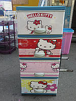 Детский пластиковый комод Hello Kitty 2