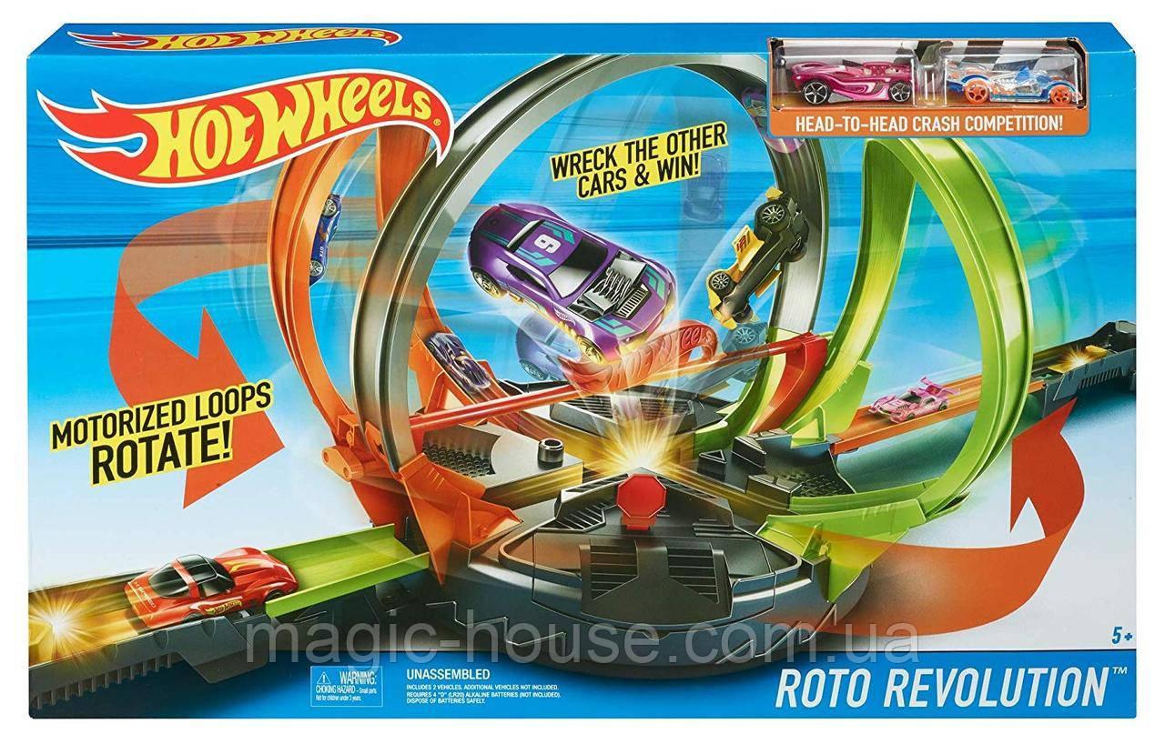 Трек Хот Вилс Улётное вращениеHot Wheels Roto Revolution Оригинал от Mattel