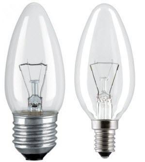 Лампы накаливания (СВЕЧА)