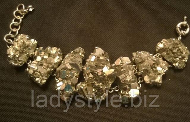 купить браслет пирит золото украшения леди стиль студия подарок амулет талисман