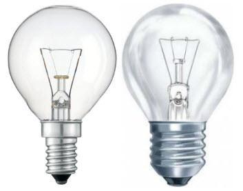 Лампы накаливания ЛОН тип P (шар)