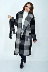 Пальто женское 104R008 цвет Серый