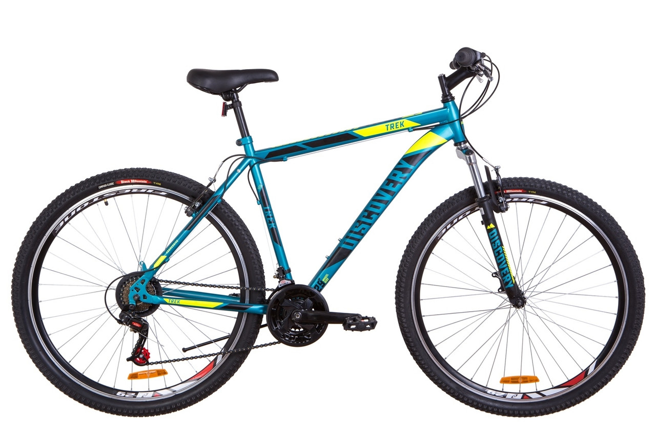 """Велосипед 29"""" Discovery TREK AM 14G Vbr St 2019 (малахітовий з жовтим (м))"""