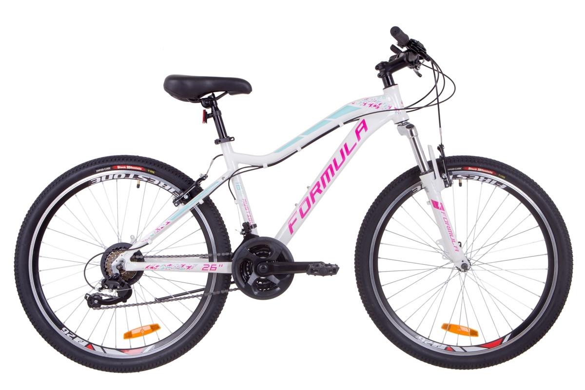 """Велосипед 26"""" Formula MYSTIQUE 2.0 AM 14G Vbr Al 2019 (бело-голубой с фиолетовым)"""