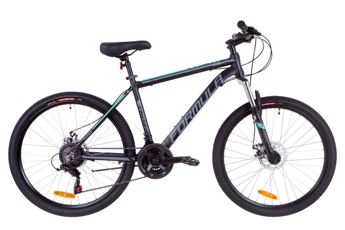 """Велосипед 26"""" Formula THOR 1.0 AM 14G DD Al 2019 (черно-серый с бирюзовым (м))"""