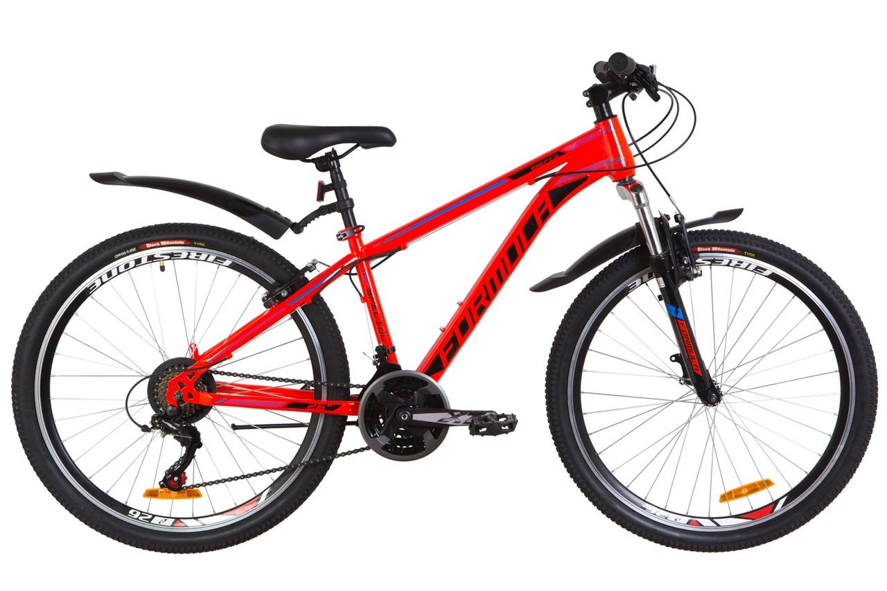 """Велосипед 26"""" Formula SPECIAL AM 14G Vbr St з крилом Pl 2019 (червоно-синій)"""