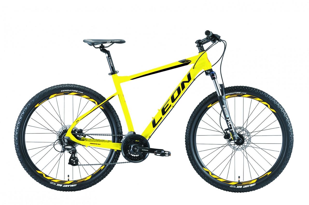 """Велосипед 27.5"""" Leon XC-80 AM Hydraulic lock out 14G HDD Al 2019 (жовтий)"""
