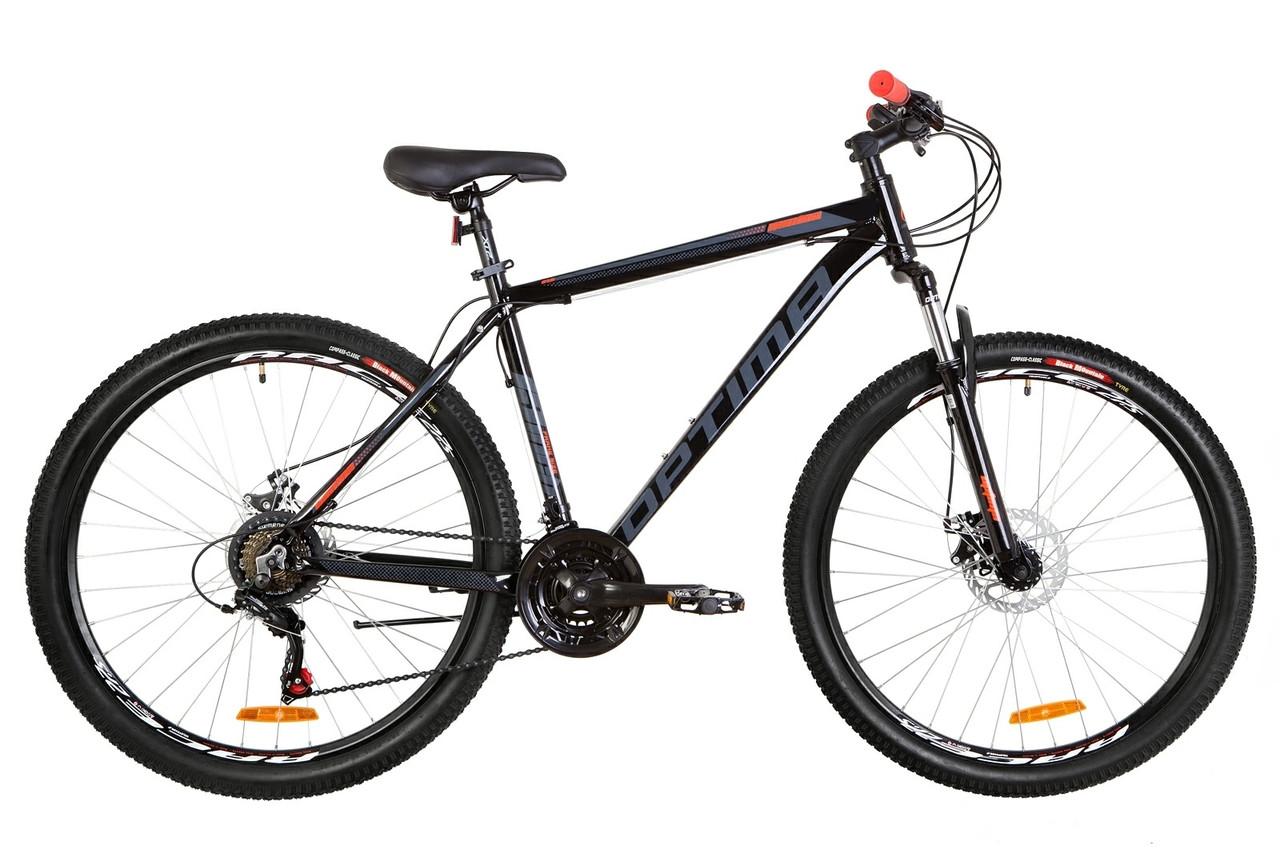"""Велосипед 27.5"""" Optimabikes MOTION AM 14G DD Al 2019 (черно-оранжевый)"""