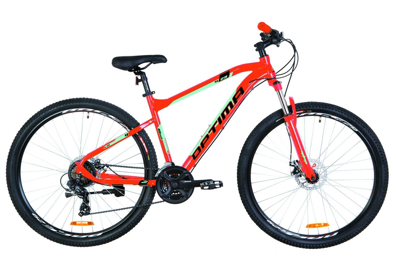 """Велосипед 29"""" Optimabikes F-1 AM 14G DD Al 2019 (оранжево-бірюзовий)"""