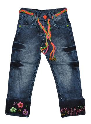 Джинсы детские  7-8-9-10-11 лет для девочек. Детская одежда оптом.