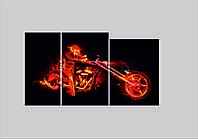 """Модульная картина с качественной уф печатью """"Рокер в огне"""""""