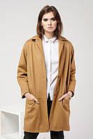 Женское шерстяное пальто бежевое