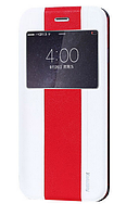 Чехол книжка для iPhone 6 Plus White/Red