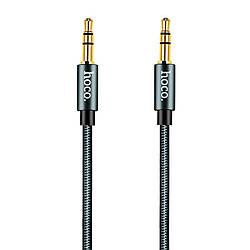 """Кабель 3,5""""-3.5"""" 1m Hoco Noble Grey (UPA-03) (нитка)"""