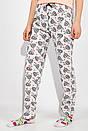 Пижама женская 317F019 цвет Абрикосово-серый, фото 4
