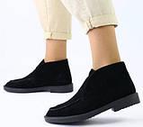 Loro Piana! Женские лоферы туфли полу ботинки натуральная бежевая замша Лора Пиана, фото 10