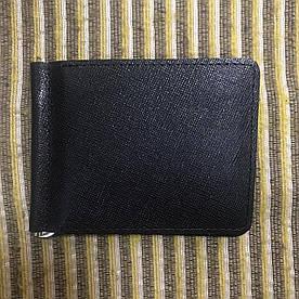 Зажим для денег v.2.0. Fisher Gifts BUSSINES портофино черный (кожа)