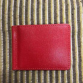 Зажим для денег v.2.0. Fisher Gifts BUSSINES портофино красный (кожа)