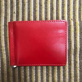 Зажим для денег v.2.0. Fisher Gifts STANDART красный (кожа)