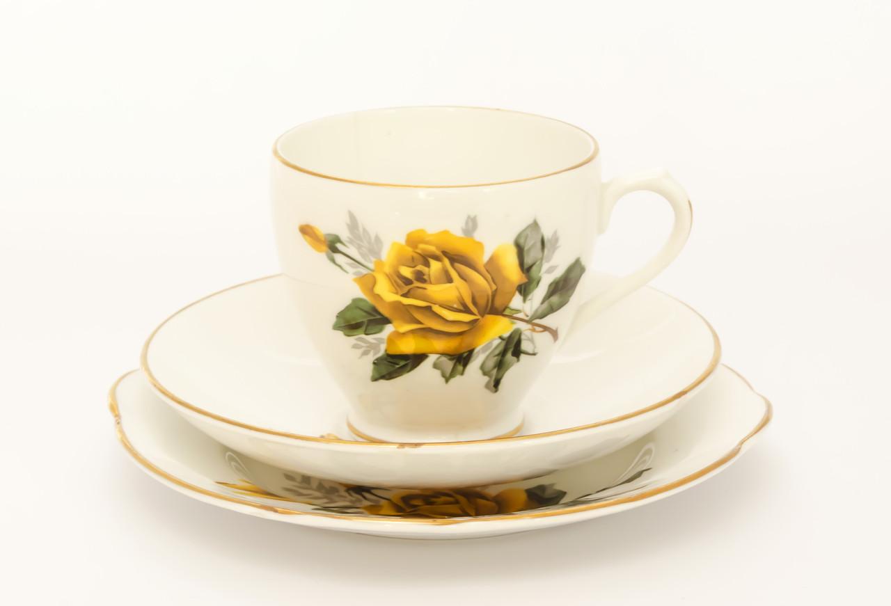 Чашка блюдце тарелка, фарфор Англия Duches BONE CH