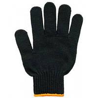Перчатки рабочие 6 нитей без ПВХ черные