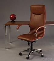 кресло руководителя NOVA wood chrome с механизмом «Мультиблок»