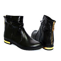 """Зимние ботинки женские кожаные на низком ходу. ТМ """"Maestro"""", фото 1"""