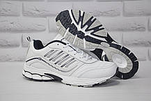 Білі чоловічі кросівки натуральна шкіра BONA великі розміри: 48,49,50
