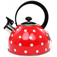 Чайник со свистком 2.5л Gusto GT-1402-25/2 (83516)