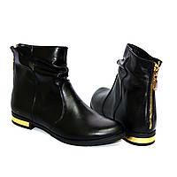 """Ботинки кожаные женские демисезонные на низком ходу.ТМ """"Maestro"""", фото 1"""