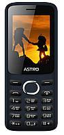 """Мобильный телефон Astro A246 Dual Sim Navy; 2.4"""" (320х240) TN / клавиатурный моноблок / microSD до 16 ГБ / камера 0.3 Мп / 2G (GSM) / 129х53х12.4 мм,"""
