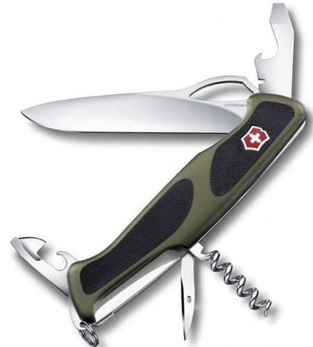 Армейский функциональный складной нож Victorinox RangerGrip 61, 09553.MC4 зеленый
