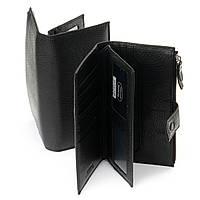 Кошелек мужской кожаный большой купюрник черный Dr.Bond WMB-1 19x9.5х3см