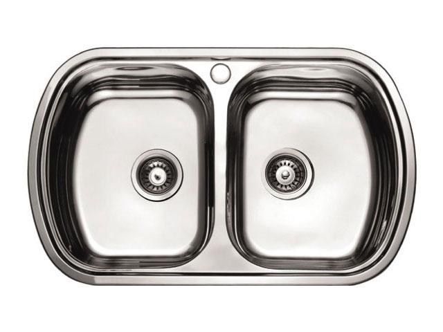 Мойка кухонная с крылом нержавеющая сталь 800 мм Aqua-World