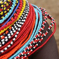 Бісерні прикраси африканського племені Масаї