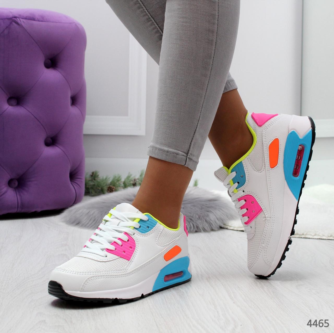 Женские кроссовки реплика Nike Air Max найк текстильные  цветные