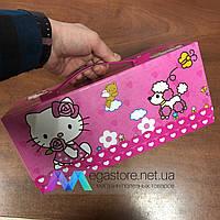 Детский набор юного художника Hello Kitty 54 предмета в подарочном чемоданчике для рисования и творчества