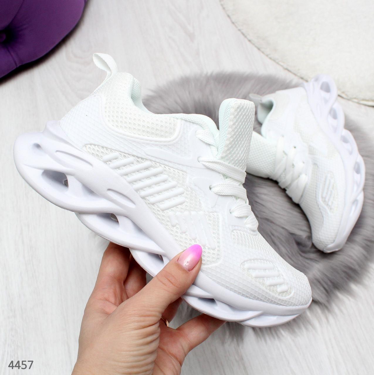 Женские легкие дышащие текстильные кроссовки сетка белые Ruun